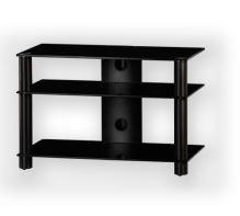 LF 6130 C-SMK  -  stolek čirá skla, kouřové nohy
