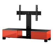 MD 8140  C-BLK-WNT - stolek čirá skla,černý kov,ořech