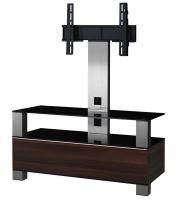 MD 8953 B-INX- WNT - stolek černá skla,nerez,ořech