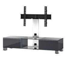 MD 8140  B-INX-BLK - stolek černá skla,nerez,černá