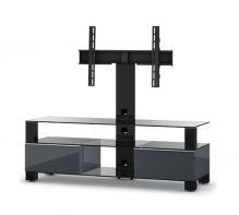 MD 8143 B-HBLK-WHT  -   stolek černá skla,černý lesk, bílá